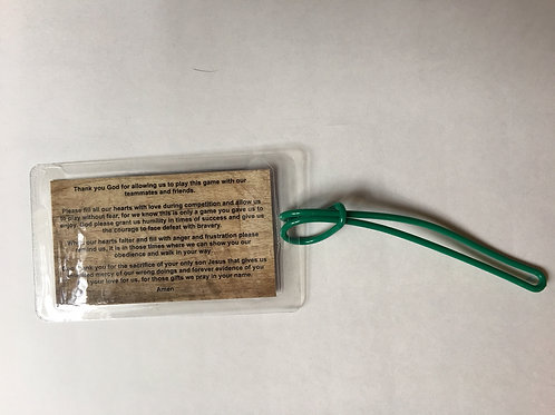 QTY: 2 PreGame Prayer Bag Tags