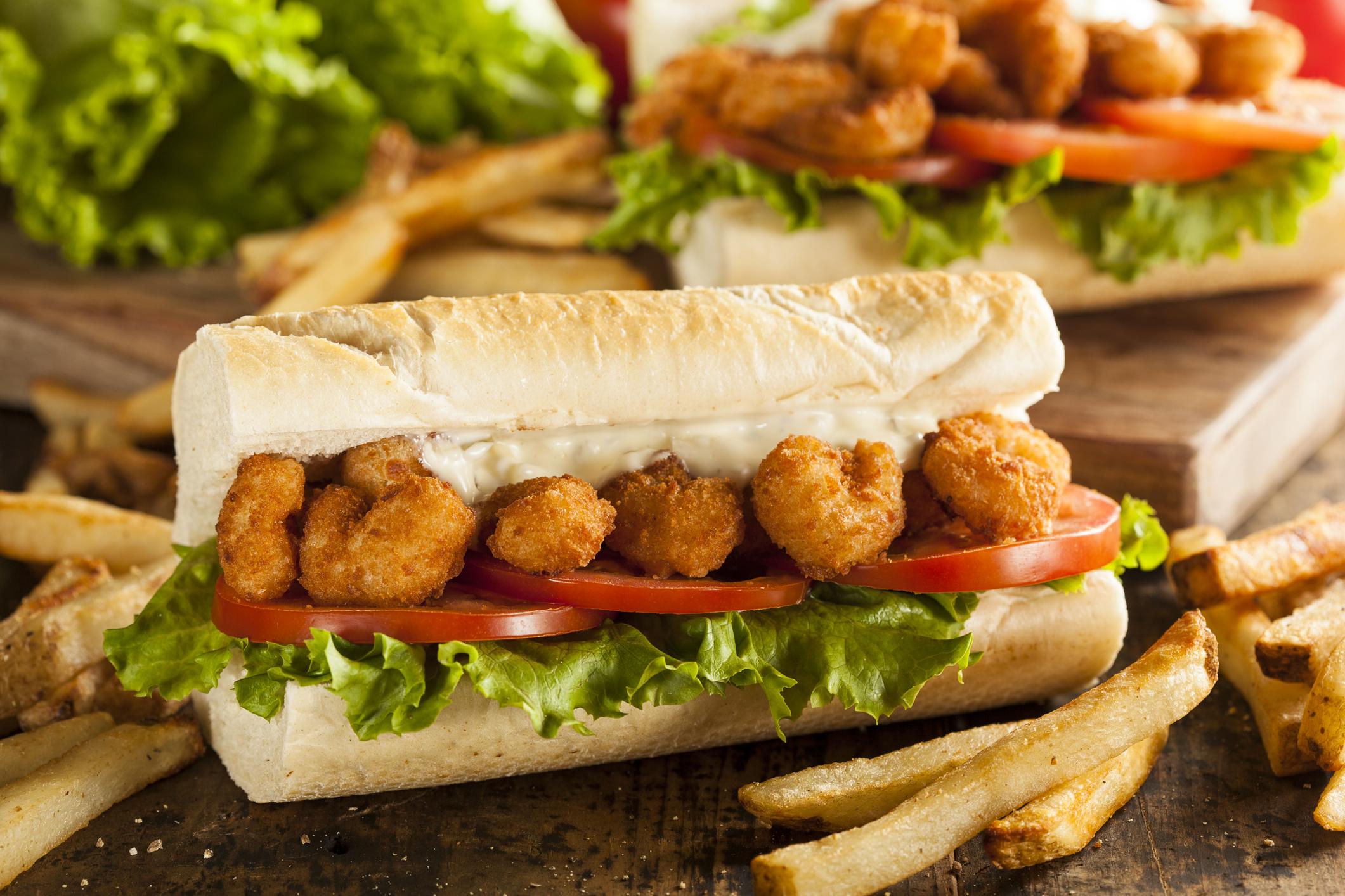 Shrimp PO Boy menu