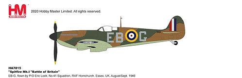 Spitfire Mk.1 RAF Flown by Eric Lock, 41 Sqd 1:48 HA7815