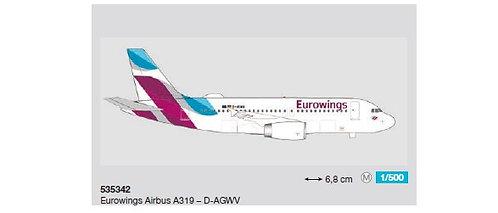 Eurowings A319 D-AGWV 1:500 HE535342