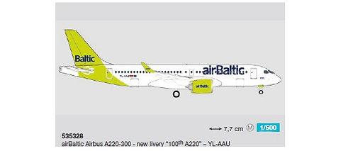 Air Baltic A220-300 YL-AAU 100th A220 1:500 HE535328
