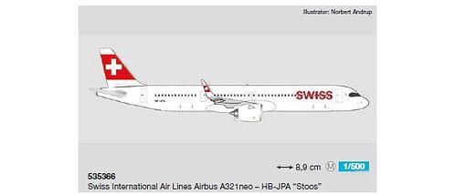 Swiss Int'l A321 neo HB-JPA 1:500 HE535366