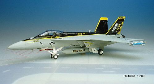 F-18E US Navy  VFA-27 Royal Maces 1:200 HG6078