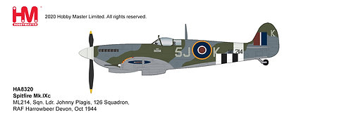 Spitfire Supermarine Mk IXc RAF 126 Sq Ldr J Plagis 1:48 HA8320