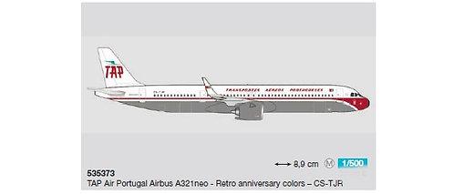TAP Portugal A321 neo Retro CS-TJR 1:500 HE535373