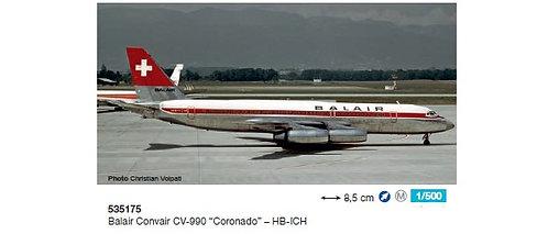 Balair Convair CV-990 HB-ICH 1:500 HE535175