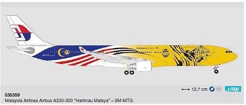 Malaysia A330-300 9M-MTG Harimau Malaysia 1:500 HE535359