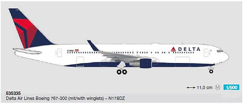Delta Air Lines B767-300 N178DZ 1:500 HE535335