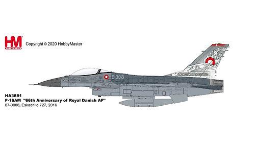 F-16AM Royal Danish AF ESK 227 E-008 66th Ann 1:72 HA3881