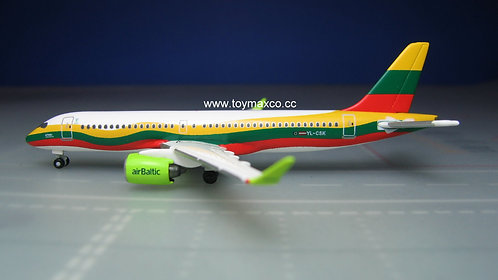 Air Baltic A220-300 YL-CSK Lithuania 1:500 HE534123