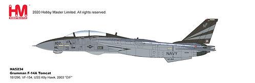 F-14A US Navy VF-154 Black Knights USS Kitty Hawk 1:72 HA5234