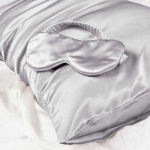 Silk Eye Mask -Silver