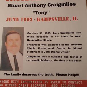 Stuart Craigmiles, 27, June 30, 1993, Kampsville, Calhoun County,Illinois