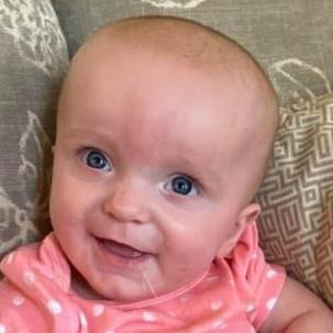 Clara May, Delamano, 6 months old, October 4, 2021, Edwardsville, Madison County, Illinois