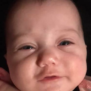 Emery Jean Lyons, 5 months old, Canton, Fulton County, Illinois