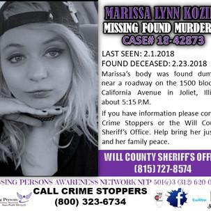 Marissa Koziel, 21, February 14, 2018, Joliet, Will County, Illinois