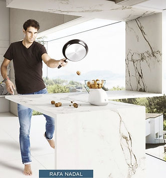 Реклама материала Dekton от теннисиста Рафаэля Надаля