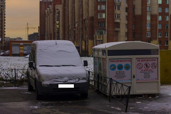 Контейнер для макулатуры расположен по адресу: Кондратьевский проспект, 70к1 в Калининском районе Санкт-Петербурга.