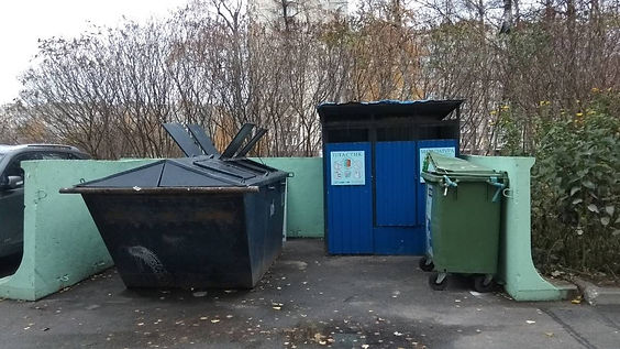 Контейнер для вторсырья и макулатуры расположен по адресу улица Антонова-Овсеенко, 18 в Невском районе Санкт-Петербурга.