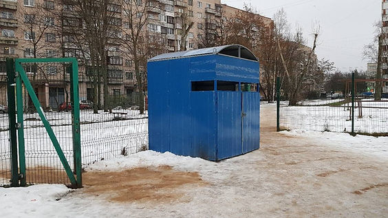 Контейнер для макулатуры расположен по адресу проспект Ветеранов, 80 в Кировском районе Санкт-Петербурга