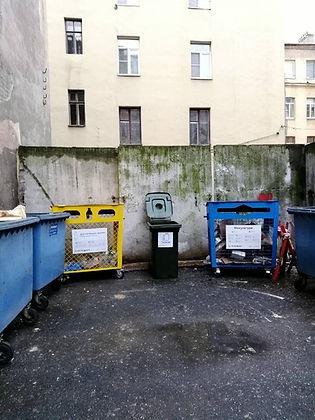Контейнер для вторсырья и макулатуры расположен по адресу Подрезова улица, 4 в Петроградском районе Санкт-Петербурга