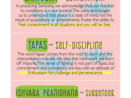 8-Limbs of Yoga: Niyamas