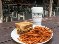 Patty Melt & Sweet Potato Fries