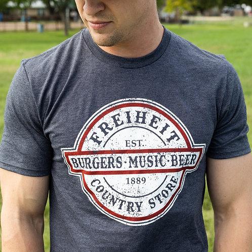 Burgers, Music, Beer Grey Tee