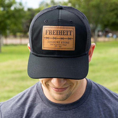 """Freiheit """"Barbed Wire"""" Leather Patch Hat"""