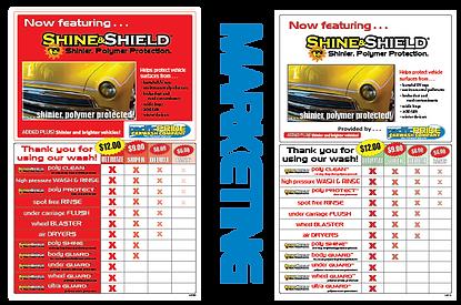 Customized Car Wash Menu Pushing Top End Package