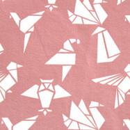 Origami rose pâle