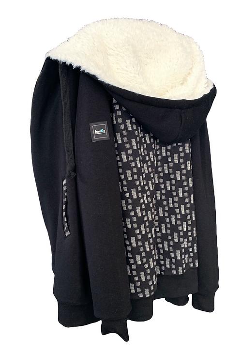 Sweat zippé sur-mesure  Black & White