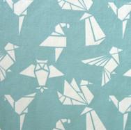 Origami turquoise