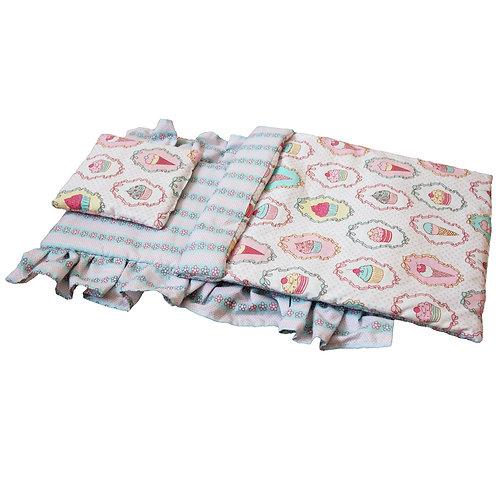 Постельное белье для кукольной кроватки Lilu пирожные