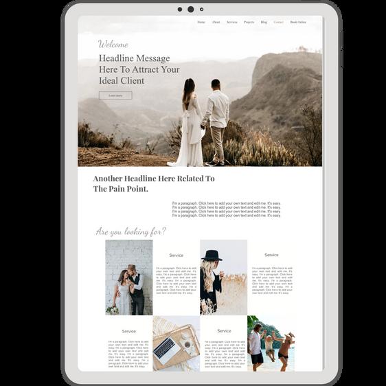 Wix Website Template | Charlotte