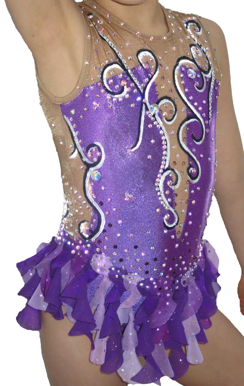 33bb0a669f11 Rhythmic gymnastics leotard Purple swirls.jpg
