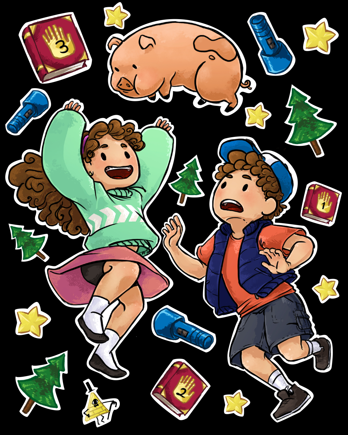 Gravity falls illustration