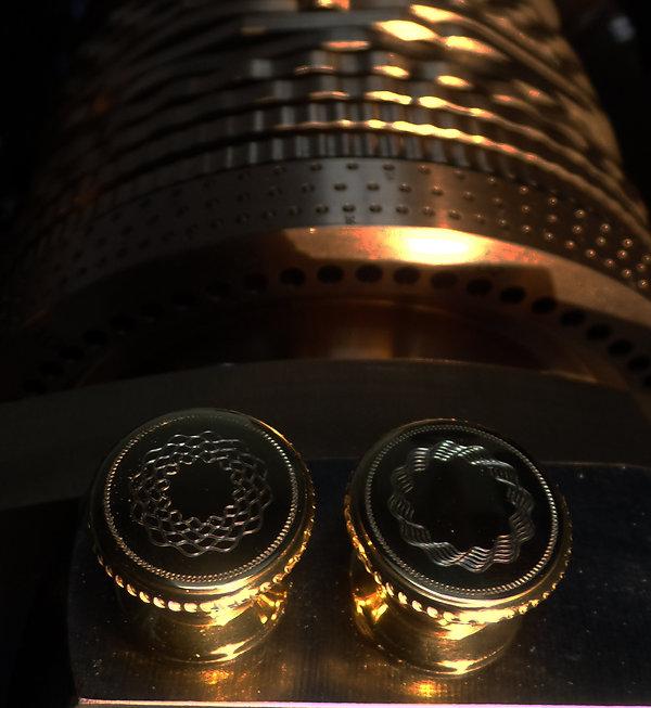 Rose Engine Turned Door Handles