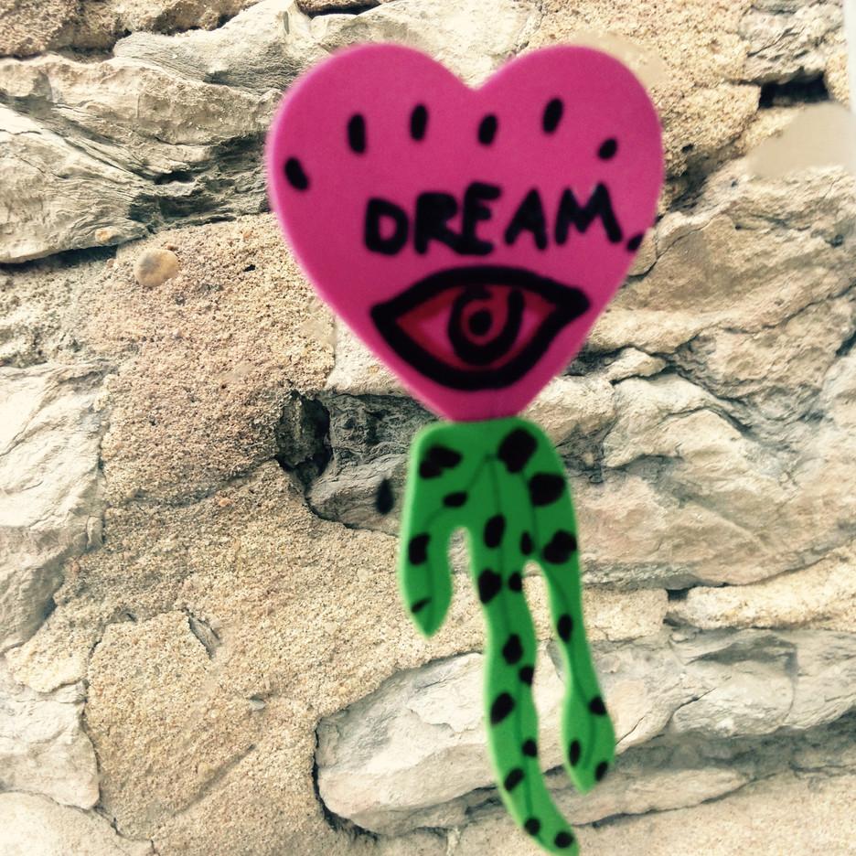 Eye hart  sticker art