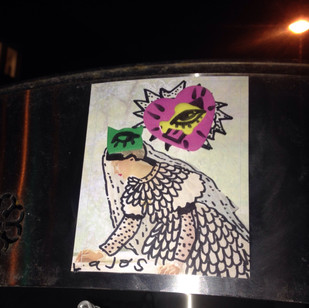 Handmade sticker art