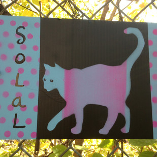 Cat Stencil- spray paint