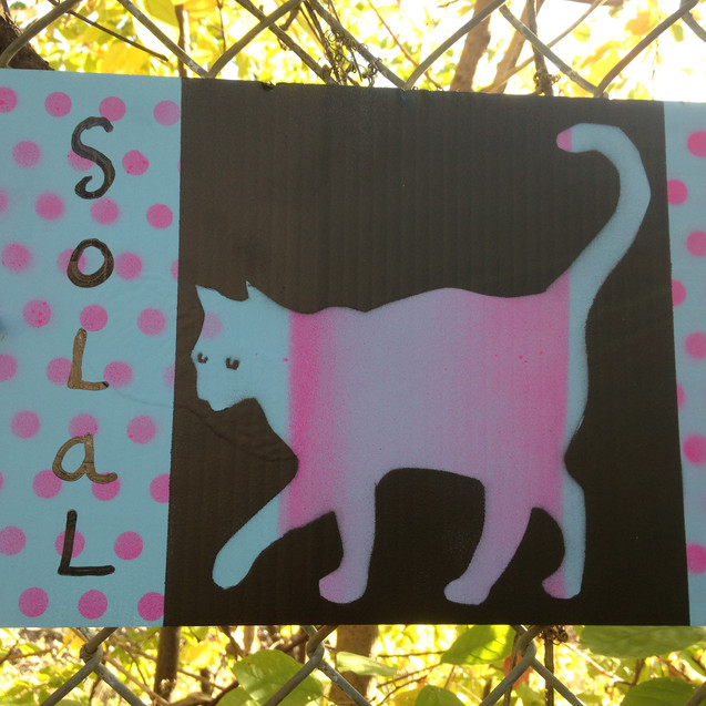 Cat Stencil- spray paint