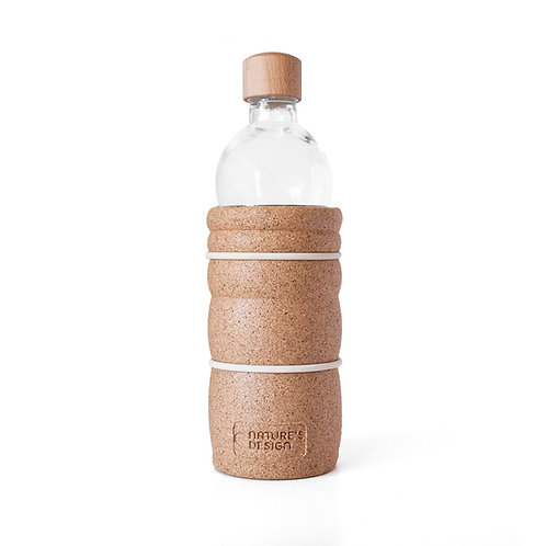 Glasflasche, Korkummantelung, vegan, cruelty free, zero waste