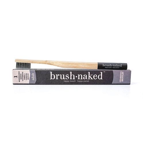 Bambuszahnbürste mit Aktivkohle, Brush Naked, vegan, cruelty free, zero waste