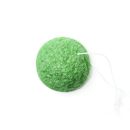 Konjac sponge with green clay & green tea - KONGY
