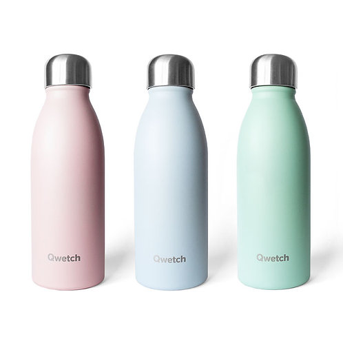 Stainless steel bottle black, 500ml - Qwetch