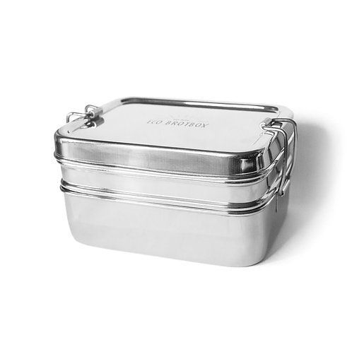Stainless steel box including snack box «Dabba Magic» - ECO bread box
