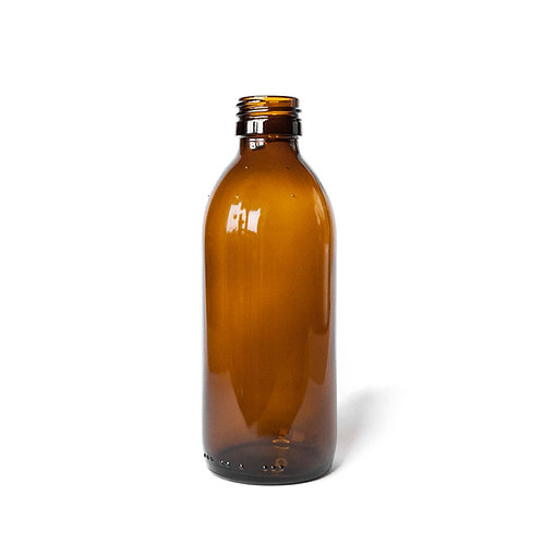 Amber glass bottle 200ml - the sage