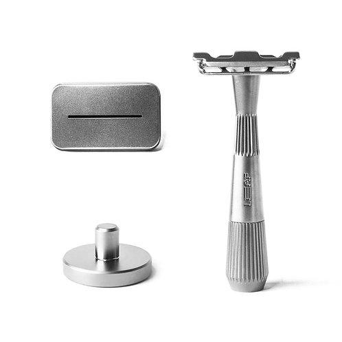 Starter Bundle «the Twig» Silver - Leaf Shave