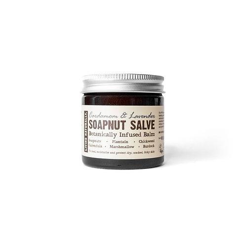 Organic Soapnut Salve with Cardamom & Lavender - Living Naturally.
